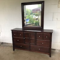 brown wooden dresser with mirror San Antonio, 78218