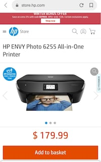 New HP ENVY Photo 6255 All-in-One Printer