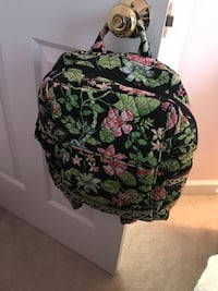 green, black, and pink floral Vera Bradley backpack Wilson, 27893