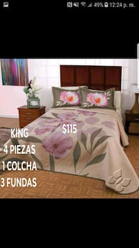 white and pink floral bed sheet set Alexandria, 22305