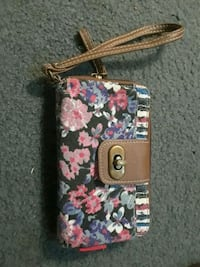 black, pink, and green floral wallet Riverton, 62561