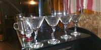 clear glass footed wine glass Fort Worth, 76105