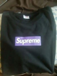 Purple on black supreme box logo Scarborough, M1S