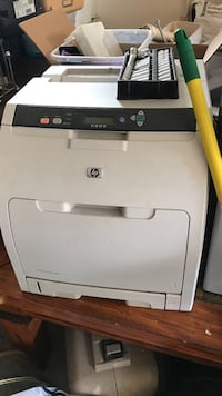 white and gray HP all-in-one printer machine Conyers, 30013