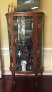 brown wooden framed glass display cabinet Katy, 77494