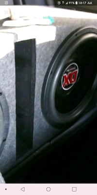 black and red MTX Audio subwoofer Washington, 20020