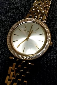 round gold Michael Kors analog watch with link bracelet Calgary, T3A 5E2