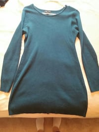 Women's blue sweater dress