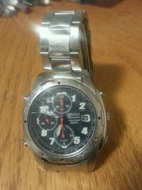 round silver chronograph watch with silver link br Regina, S4N 5M5