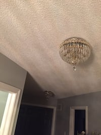 2 round crystal ceiling flush mount light fixtures  Brampton, L6P 2L8