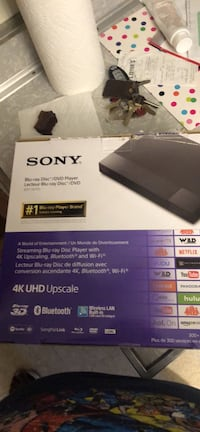 2 Brand New Sony Blu Ray 4k UHD Upscale Players. $95 for one, Both for $180 Framingham, 01701