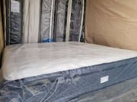 white and gray mattress package