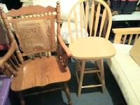 two brown wooden windsor chairs Candler, 28715