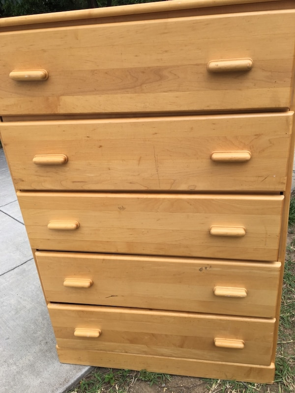 Solid  oak wood dresser. 1