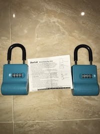 two blue combination locks Mississauga, L5M