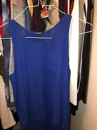 blue scoop-neck sleeveless top 768 mi