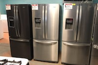 """New whirlpool 30"""" stainless steel french door refrigerator 10% off"""