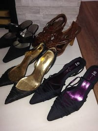 pair of black leather pointed-toe heels Port Coquitlam