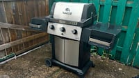 black and stainless steel gas grill Montreal, H4C