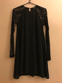 Black dress w/ lace sleeves Surrey, V3T 5V2