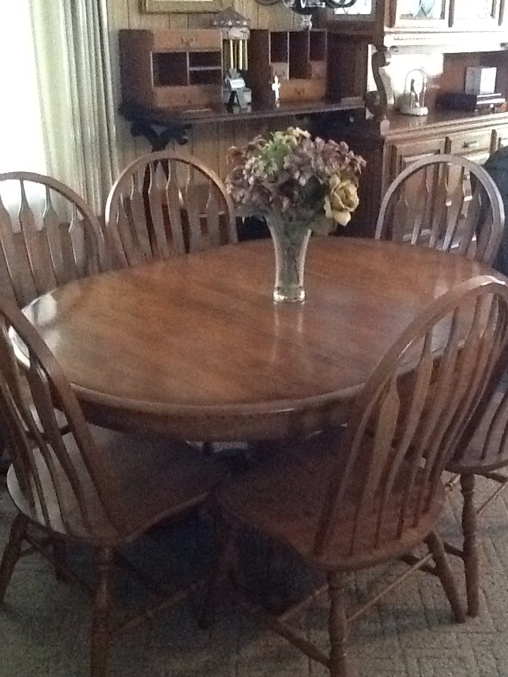 letgo solid oak dining room table with l in modesto ca