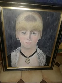 Hand painted Potrait with frame Montreal, H1H 4Z1