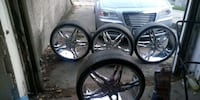 "5 bolt. 2 wheel drive 24"" inch rims for sale  Omaha, 68110"