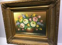 Beautiful STILL LIFE oil on canvas, ornate frame Toronto, M2H