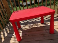 Red and blue plastic tables Toronto, M2J 2X1