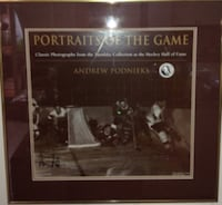 Framed Signed Sepia Hockey Print From The Turofsky Collection London
