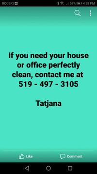 House cleaning Kitchener