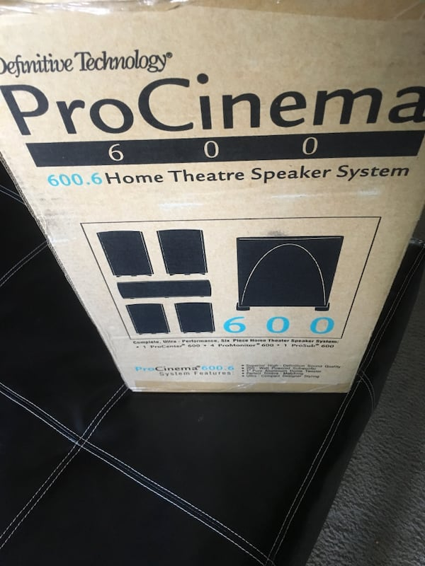 Procinema 600 home theater speaker system. 8