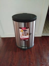 silver and black Better Homes pedal bin