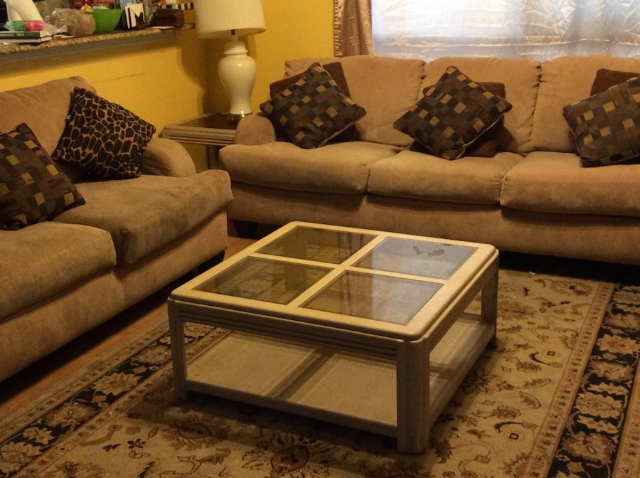 Letgo Brown And White Living Room Furnit In Garland Tx