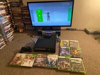 Xbox with games and controller