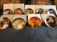 10 Gone with the wind commemorative walll plates in boxes  St. Clair Shores, 48081