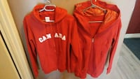 red and white Hollister zip-up hoodie Québec, G1V 1T1