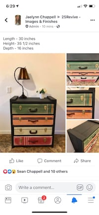 4 Drawer Suitcase Dresser