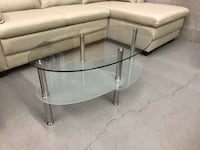 Brand new oval tempered glass coffee table warehouse sale  多伦多, M1S 4A9