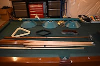 brown and blue billiard table set PURCELLVILLE