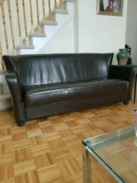 Faux Leather espresso brown couch Mississauga, L5V 3B1