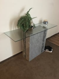 Faux granite table w/glass Springfield, 65804