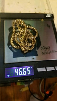 14k franco gold plated chain