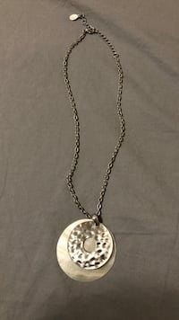 silver chain necklace with heart pendant Modesto, 95350