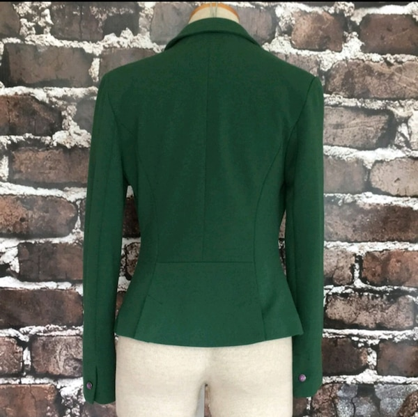 Esley Green Blazer Jacket Fitted Suit Coat Small db32aa1d-aded-4482-98cf-04dfc5025172