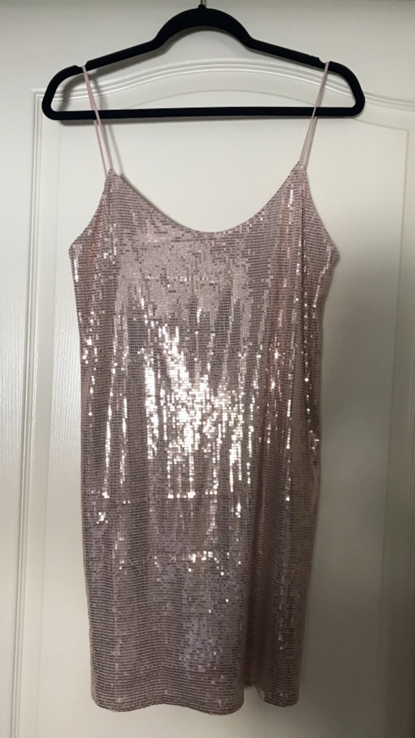 8b616c0d3c Used Zara Low Back Sequined Party Dress in Pink   Rose Gold for sale in  South San Francisco - letgo