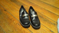 Black Faux Leather Loafers Hagerstown