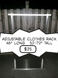 Adjustable clothes rack  Virginia Beach, 23452