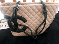 quilted pink and black leather chanel tote bag Surrey, V3T