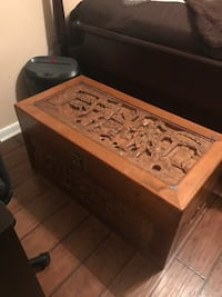 Antique hand carved cedar chest over 30 years old